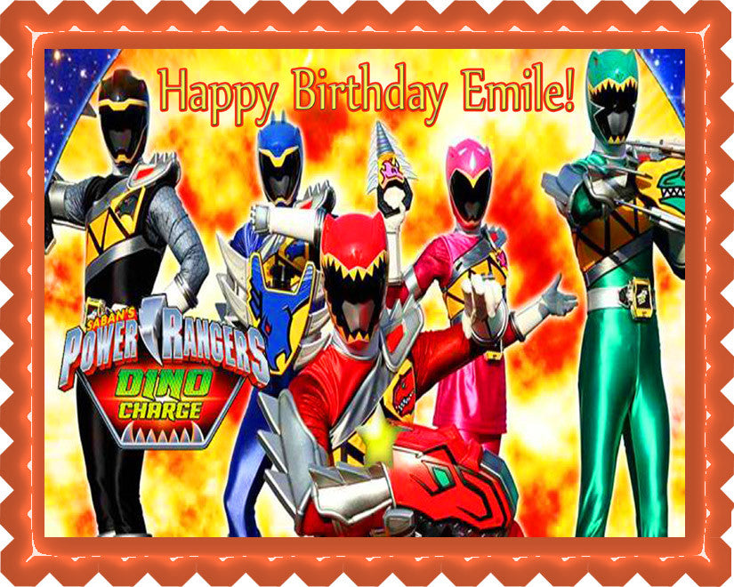 Power Rangers Dino Charge Cake Toppers