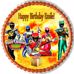 Power Rangers Dino Charge 1 Edible Birthday Cake Topper OR Cupcake Topper, Decor - Edible Prints On Cake (Edible Cake &Cupcake Topper)