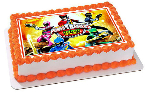 Power Rangers Dino Charge 2 Edible Birthday Cake Topper OR Cupcake Topper, Decor