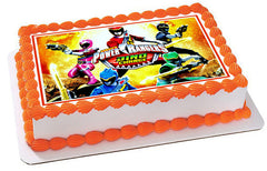 Power Rangers Dino Charge 2 Edible Birthday Cake Topper OR Cupcake Topper, Decor - Edible Prints On Cake (Edible Cake &Cupcake Topper)
