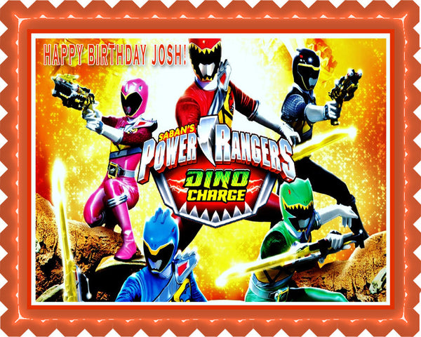 Power Rangers Dino Charge 2 Edible Cake Or Cupcake Topper