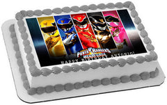 Power Rangers Megaforce Edible Birthday Cake Topper OR Cupcake Topper, Decor - Edible Prints On Cake (Edible Cake &Cupcake Topper)