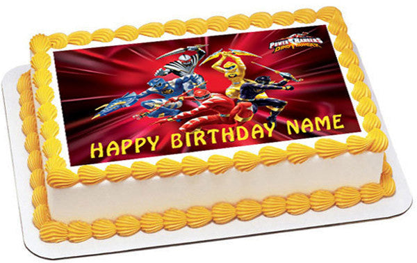 Power Rangers Edible Birthday Cake Or Cupcake Topper