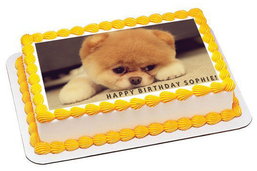 Puppy 1 Edible Birthday Cake Topper OR Cupcake Topper, Decor - Edible Prints On Cake (Edible Cake &Cupcake Topper)