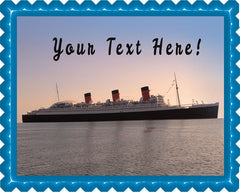 Queen Mary Sister Ship of the Titanic - Edible Cake Topper, Cupcake Toppers, Strips