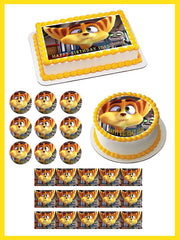 Ratchet & Clank 2 Edible Birthday Cake Topper OR Cupcake Topper, Decor - Edible Prints On Cake (Edible Cake &Cupcake Topper)