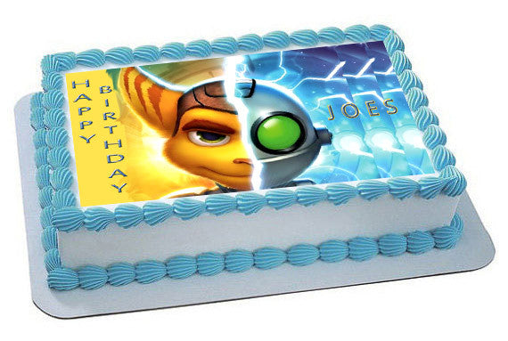 Ratchet Amp Clank 1 Edible Cake Topper Amp Cupcake Toppers