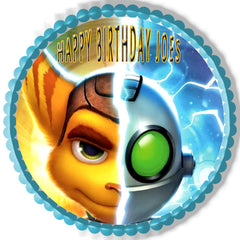 Ratchet & Clank 1 Edible Birthday Cake Topper OR Cupcake Topper, Decor - Edible Prints On Cake (Edible Cake &Cupcake Topper)