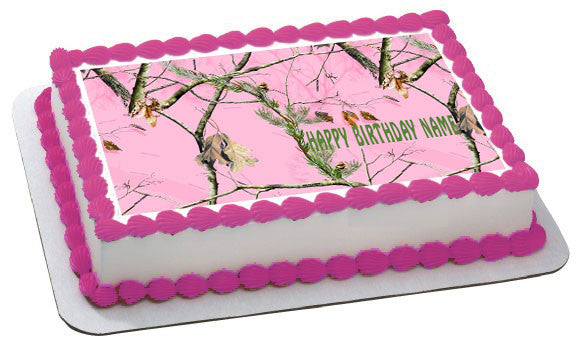 REALTREE Edible Birthday Cake Topper OR Cupcake Topper, Decor - Edible Prints On Cake (Edible Cake &Cupcake Topper)