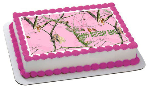 REALTREE Edible Birthday Cake Topper OR Cupcake Topper, Decor