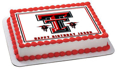 Texas Tech University 1 Edible Birthday Cake Topper OR Cupcake Topper, Decor - Edible Prints On Cake (Edible Cake &Cupcake Topper)