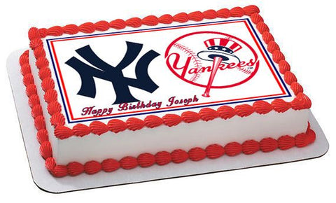 New York Yankees (Nr2) - Edible Cake Topper OR Cupcake Topper, Decor