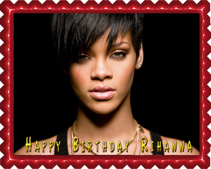 Rihanna 2 Edible Cake Cupcake Topper Edible Prints On Cake Epoc