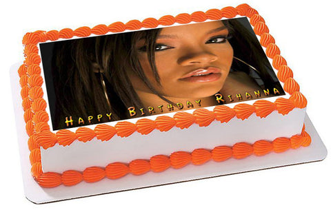 Rihanna 3 Edible Birthday Cake Topper OR Cupcake Topper, Decor