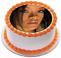 Rihanna 3 Edible Birthday Cake Topper OR Cupcake Topper, Decor - Edible Prints On Cake (Edible Cake &Cupcake Topper)