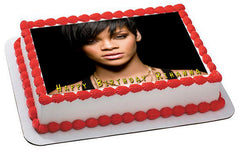 Rihanna 2 Edible Birthday Cake Topper OR Cupcake Topper, Decor - Edible Prints On Cake (Edible Cake &Cupcake Topper)