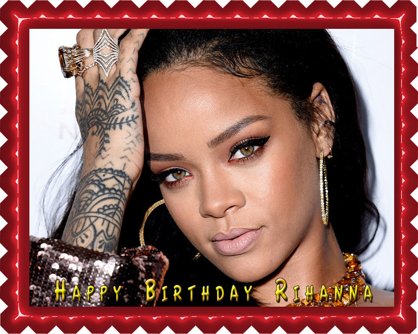 Rihanna 1 Edible Cake Cupcake Topper Edible Prints On Cake EPoC