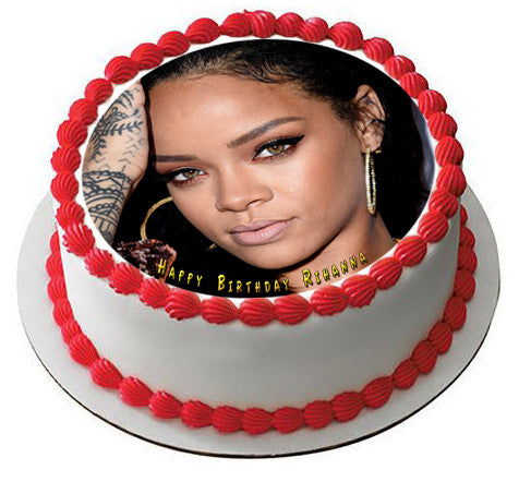 Rihanna 1 Edible Birthday Cake Topper OR Cupcake Decor