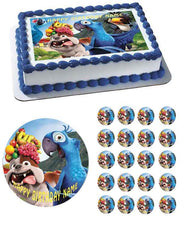 Rio Edible Birthday Cake Topper OR Cupcake Topper, Decor - Edible Prints On Cake (Edible Cake &Cupcake Topper)