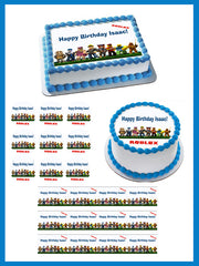 Roblox - Edible Cake Topper, Cupcake Toppers, Strips