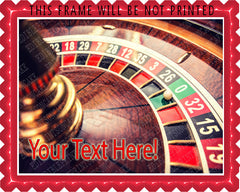 Roulette wheel in casino - Edible Cake Topper, Cupcake Toppers, Strips