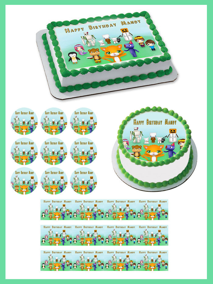 Stampy Cat And His Friends Edible Cake Topper Edible Prints On