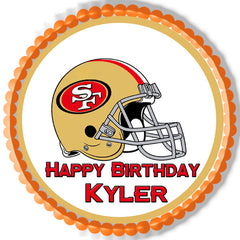 San Francisco 49ers Edible Birthday Cake Topper OR Cupcake Topper, Decor - Edible Prints On Cake (Edible Cake &Cupcake Topper)