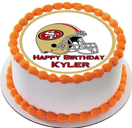 Birthday Cake Delivery Uk Archives San Francisco 49ers Edible Topper Cupcake Toppers