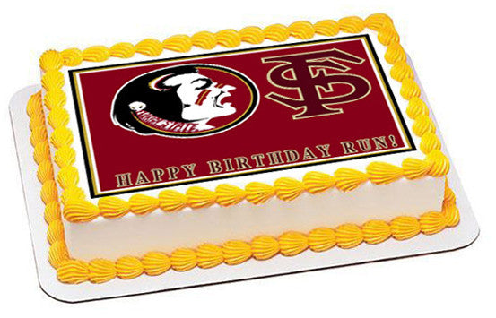 Florida State Seminoles Edible Birthday Cake Or Cupcake