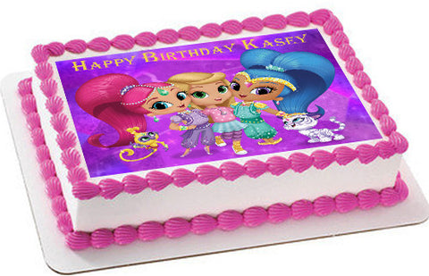 Shimmer and Shine (Nr2) - Edible Cake Topper OR Cupcake Topper, Decor