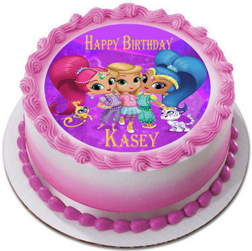 Shimmer and Shine 2 Edible Cake Topper & Cupcake Toppers ...