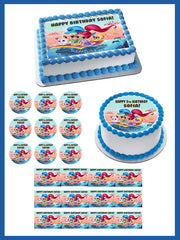 Shimmer and Shine Edible Birthday Cake Topper OR Cupcake Topper, Decor - Edible Prints On Cake (Edible Cake &Cupcake Topper)