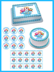SHOPKINS 3 Edible Birthday Cake Topper OR Cupcake Topper, Decor - Edible Prints On Cake (Edible Cake &Cupcake Topper)
