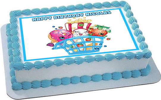 Shopkins 3 Edible Cake Topper Amp Cupcake Toppers Edible