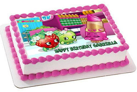 SHOPKINS - Edible Cake Topper OR Cupcake Topper, Decor