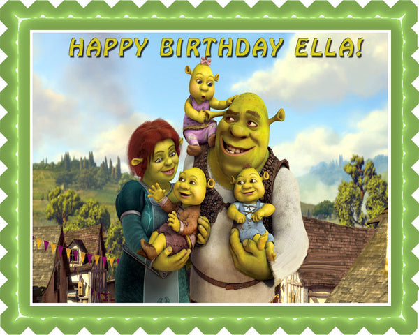 Shrek Edible Birthday Cake Or Cupcake Topper Edible