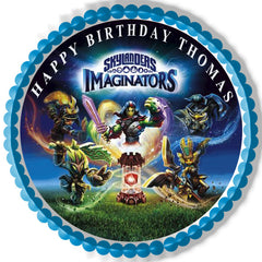 Skylanders Imaginators Edible Birthday Cake Topper OR Cupcake Topper, Decor