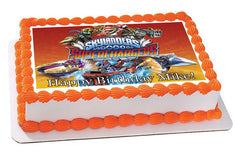 Skylanders Superchargers Edible Birthday Cake Topper OR Cupcake Topper, Decor - Edible Prints On Cake (Edible Cake &Cupcake Topper)