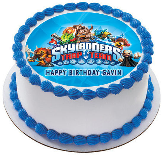 Skylanders Trap Team Edible Cake Or Cupcake Topper