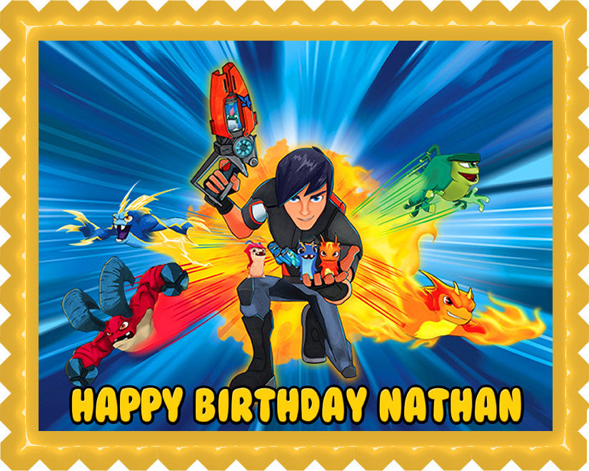 Slugterra Edible Birthday Cake Topper OR Cupcake Topper, Decor - Edible Prints On Cake (Edible Cake &Cupcake Topper)