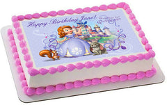 SOFIA THE FIRST Edible Birthday Cake Topper OR Cupcake Topper, Decor