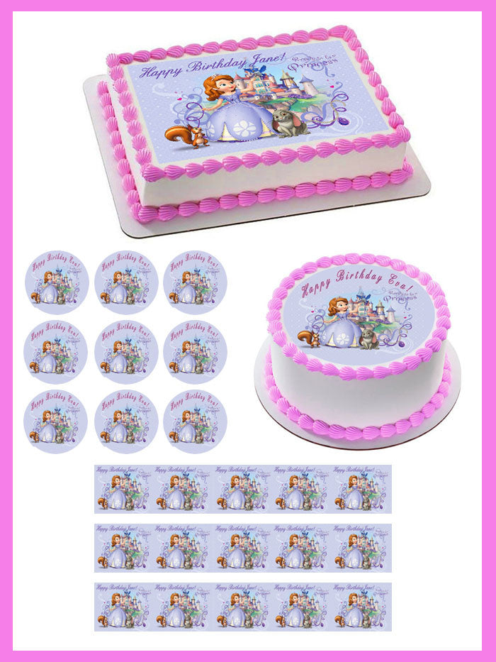 Pleasant Sofia The First Edible Cake Topper Or Cupcake Topper Decor Personalised Birthday Cards Cominlily Jamesorg