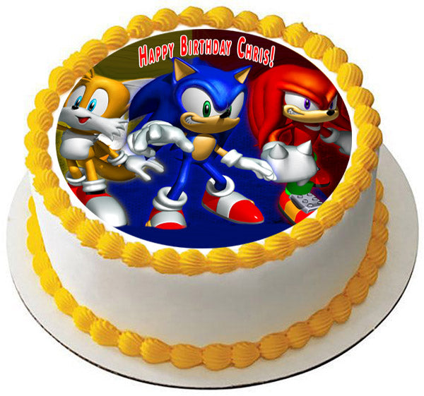 sonic the hedgehog edible cake topper