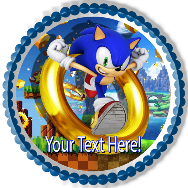 Sonic The Hedgehog Edible Cake Topper Cupcake Toppers Strips Edible Prints On Cake Epoc