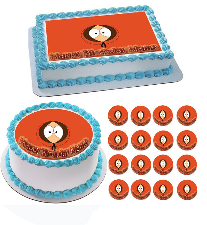 South Park 2 Edible Birthday Cake OR Cupcake Topper Prints On EPoC