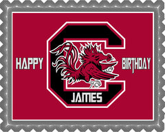 South Carolina Gamecocks Edible Birthday Cake Topper OR Cupcake Topper, Decor