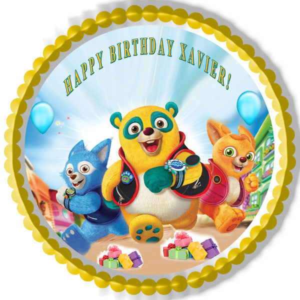 Special Agent Oso Edible Birthday Cake Or Cupcaketopper