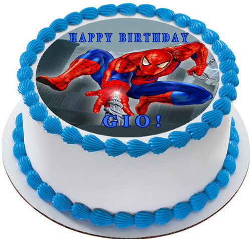 Spiderman 1 Edible Birthday Cake Or Cupcake Topper