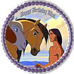 Spirit Stallion Of The Cimarron 2 Edible Birthday Cake Topper OR Cupcake Topper, Decor
