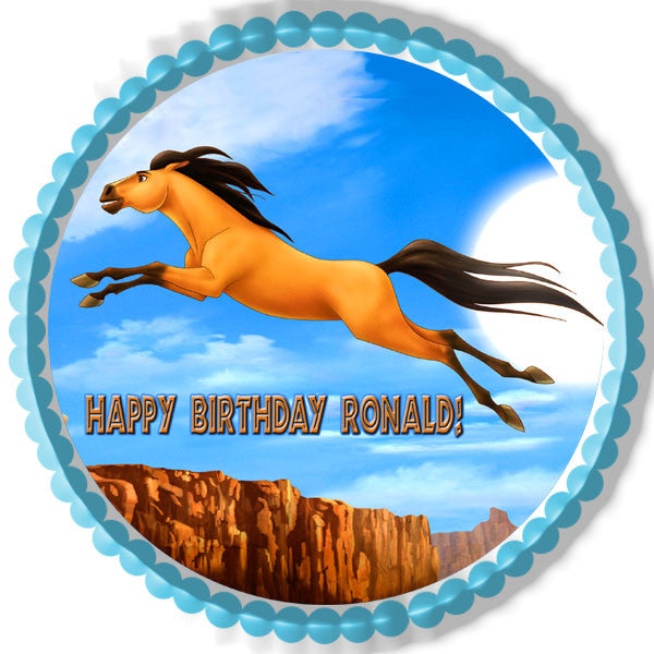 Spirit Stallion Of The Cimarron 3 Edible Cake Topper And